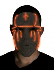 Máscara led preta adulto