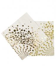 16 Guardanapos dourados luxo 33 x 33 cm
