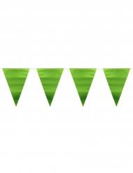 Grinalda bandeirolas verde metalizado 6 m