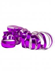 8 Rolos de serpentinas roxo metálico 4 m