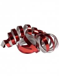 2 Rolos de serpentinas vermelho metálico 4 m