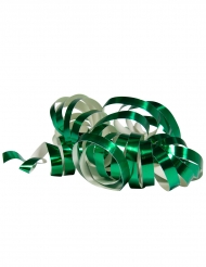 2 Rolos de serpentinas verde metálico 4 m