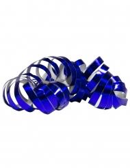 2 Rolos de serpentinas azul metálico 4 m