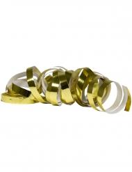 2 Rolos de serpentinas dourado metálico 4 m