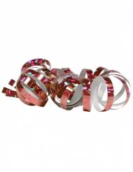 2 Rolos de serpentinas holográficas rosa 4 m