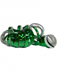 2 Rolos de serpentinas holográficas verdes 4 m