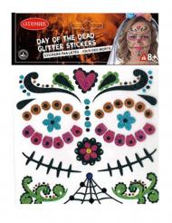 Adesivos brilhantes Dia de los Muertos