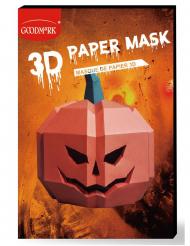 Máscara de papel 3D abóbora adulto
