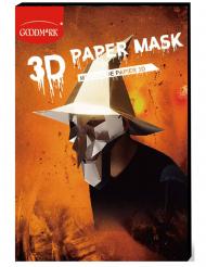 Máscara de papel 3D bruxa adulto