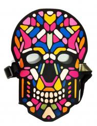 Máscara caveira LED reativa adulto