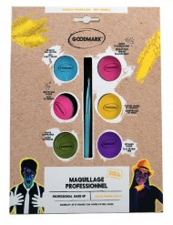 Palette profissional maquilhagem UV 6 x 2,5 g