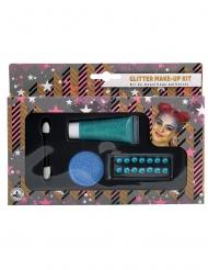 Kit de maquilhagem azul brilhantes