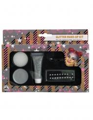 Kit de maquilhagem cinzento combrilhantes