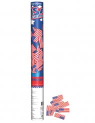 Canhão de confetis bandeira USA 60 cm