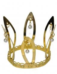 Coroa medieval dourada adulto