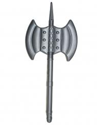 Machado duplo plástico medieval cinzento 85 cm