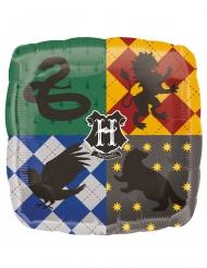 Balão de alumínio quadrado escudo Hogwarts Harry Potter™ 43 x 43 cm