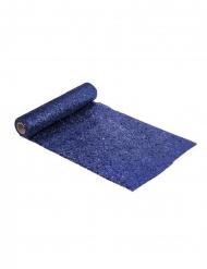 Caminho de mesa brilhantes azul noite 28 cm x 3 m