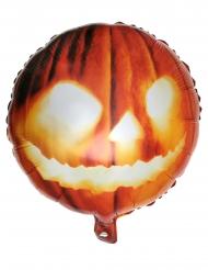 Balão de alumínio cabeça de abóbora cor de laranja 35 x 18 cm