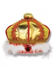 Coroa em tecido de rei criança