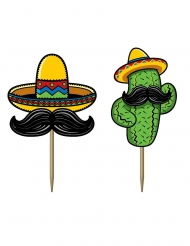 50 Palitos em cartão fiesta mexicana 7 cm
