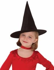 Chapéu de bruxa preto menina