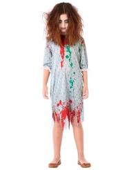 Disfarce zombie camisa de dormir menina