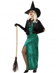 Disfarce bruxa do oeste verde mulher