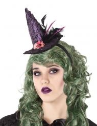 Bandolete chapéu de bruxa lilás adulto