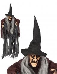 Decoração para pendurar bruxa 50 cm