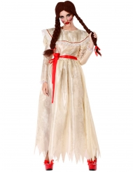 Disfarce boneca vintage maléfica mulher