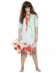 Disfarce zombie calisa de dormir mulher