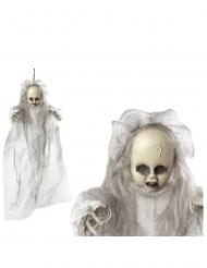 Decoração para pendurar bebé fantasma 50 cm