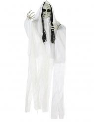 Decoração para pendurar boneca fantasma luminosa 100 x 70 cm