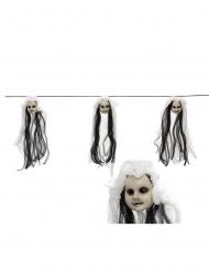 Grinalda cabeças de bonecas 153 cm
