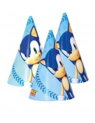 6 Chapéus de festa de cartão Sonic™