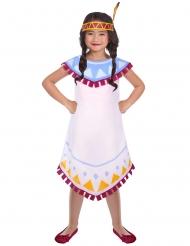 Disfarce índia vestido branco para menina