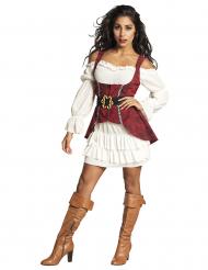 Disfarce pirata barroco mulher