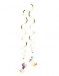 2 Decorações de suspender Unicórnio Holográfico 85 cm