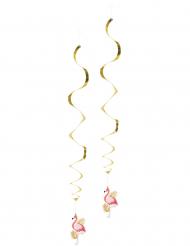2 Decorações de suspender Flamingo Trópico 85 cm