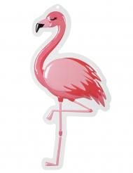 Decoração mural Flamingo rosa em plástico 50 x 30 cm