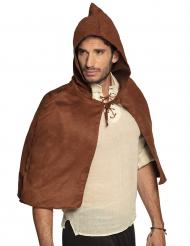 Capa medieval castanho adulto