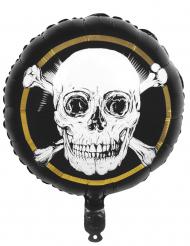 Balão em alumínio Pirata Jolly Roger 45 cm