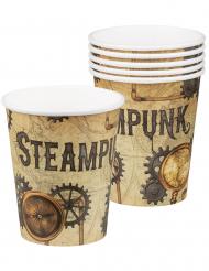 6 Copos de cartão Steampunk 25 cl