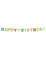 Grinalda letras Happy Birthday em cartão 150 cm
