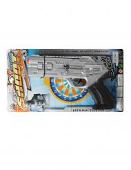 Pistola de polícia prateada