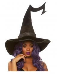 Chapéu preto luxo veludo bruxa adulto