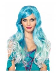 Peruca luxo azul sereia mulher