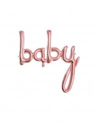 Balão de alumínio baby rosa gold 73.5 x 75.5 cm