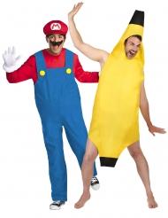 Disfarce de casal Mario™ e banana adulto